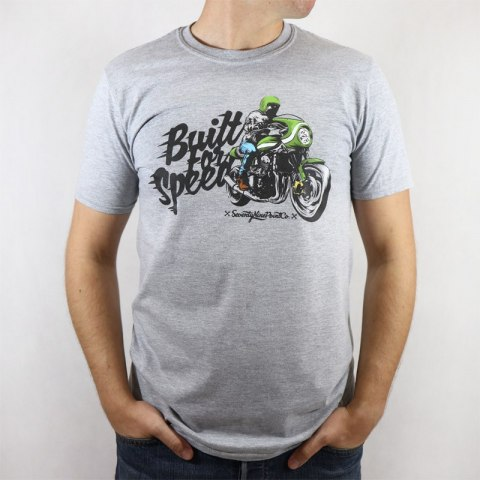79 Point Built For Speed Men T-Shirt - Light Grey Melange