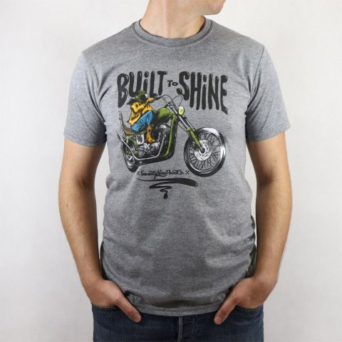 79 Point Built To Shine Men T-Shirt - Dark Grey Melange