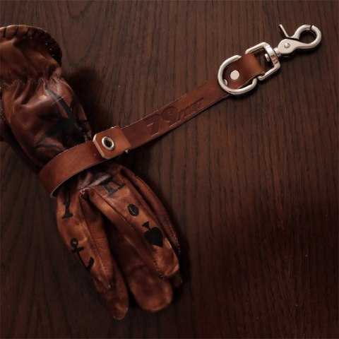 Leather glove holder 79 Point x Dowgird Leather Goods - Brown