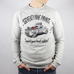 79 Point Support Customs Sweatshirt - Light Grey