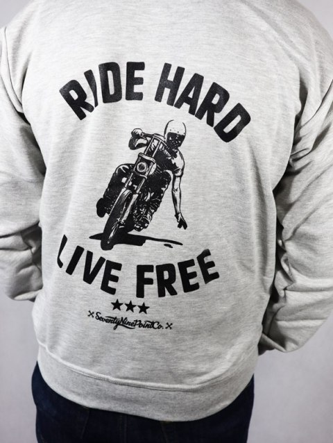 Bluza z kapturem Męska 79 Point Ride Hard - Szara