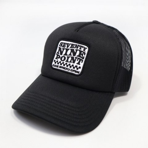 79 Point Check Flag Trucker Cap - Black