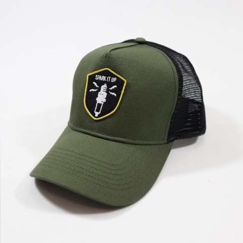 79 Point Spark It Up Trucker Cap - Olive - Black