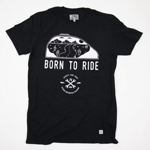 79 Point Born To Ride T-Shirt - Black