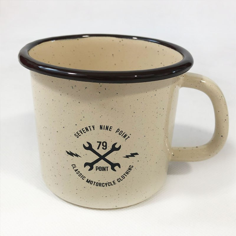 79 Point Adventure Is Out There Enamel Mug - Beige 0,5L