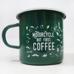 79 Point But First Coffee Enamel Mug - Green 0,4L