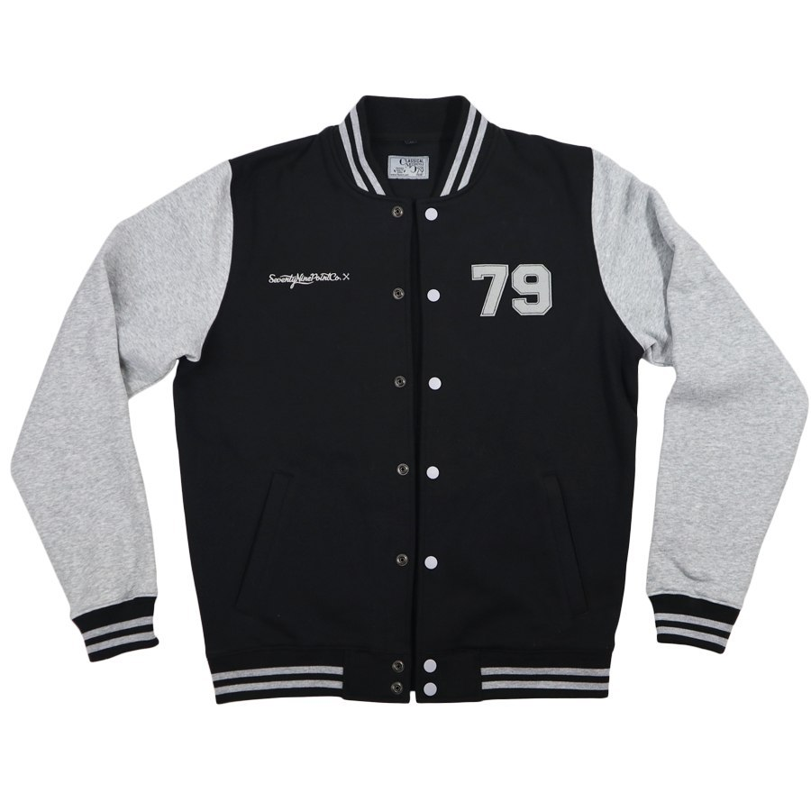 79 Point Oldschool College Sweat - Black/Gray