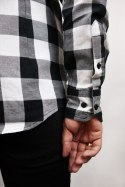 79 Point Checked Flannel Shirt - Black-White