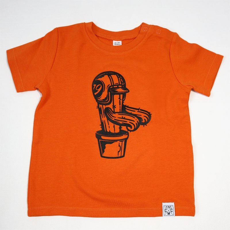 79 Point Cactus Rider Kids T-Shirt - Orange