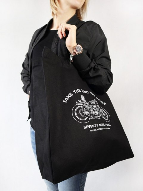 Cotton Motorcycle Bag - Take The Long Way Home