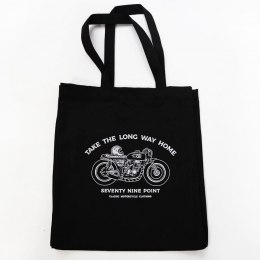 Cotton Motorcycle Bag - Take The Long Way Home - Black