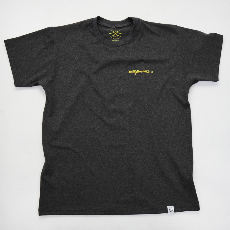 79 Point Cafe Racer T-Shirt - Dark Grey Melange