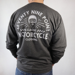 79 Point Thunder Rider Longsleeve - Dark Grey Melange