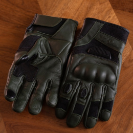 79 Point Olive Rally Gloves